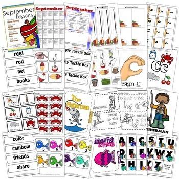 September Lessons Preschool Pre-K Kindergarten Curriculum BUNDLE S3