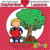 September Lessons Preschool Pre-K Kindergarten Curriculum BUNDLE S2
