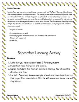 September Listening