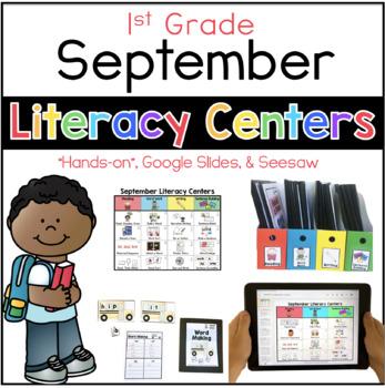 September Literacy Center Menu 1st Grade by Sarah Paul | TpT