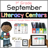 September Literacy Center 1st Grade (Google Slides & Seesaw)