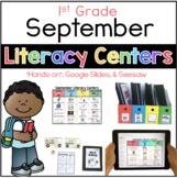 September Literacy Center 1st Grade (Google Slides & Seesaw)