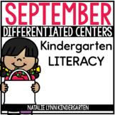 September Literacy Centers for Kindergarten