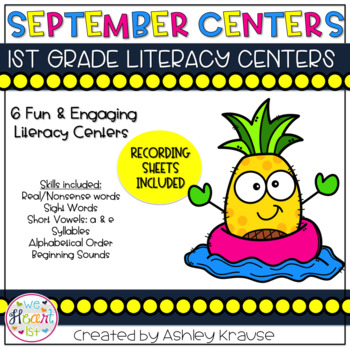September Literacy Centers: Back to School