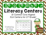 September Literacy Centers Menu {CCS Aligned} Grade 2