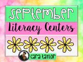 September Literacy Centers for First Grade