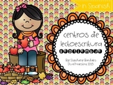 September Literacy Centers in Spanish (Apple Themed)