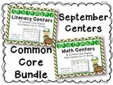 September Literacy & Math Centers Menu BUNDLE {CCS Aligned