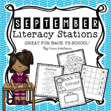 [16] September Literacy Stations{Back to School, Apples, All About Me,Labor Day}