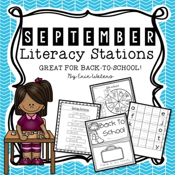 [16] September Literacy Stations{Back to School, Apples, A