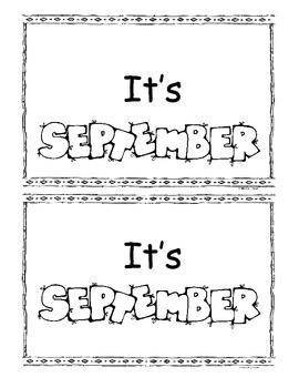 September Little Book/Emergent Readers