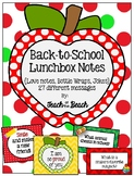 *Back to School* Lunchbox Notes and Bottle Wraps