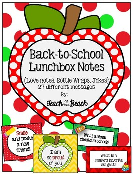 September Lunchbox Notes and Bottle Wraps