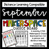 September Makerspace STEM Choice Board