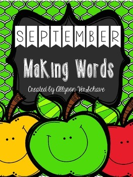 September Making Words