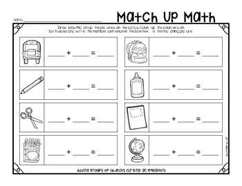 September Match Up Math