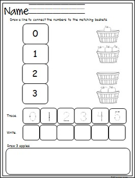 September Math And Literacy Packet (K)