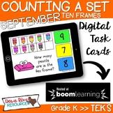 September Math Boom Cards | Ten Frames Kindergarten TEKS