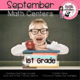 September Centers - 1st Grade - Math
