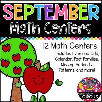 September Math Centers