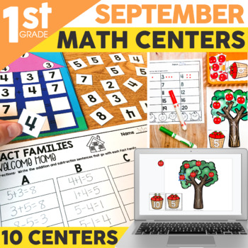 September Math Centers & Activities for 1st Grade