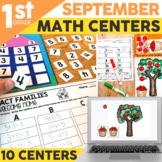 September Math Centers & Activities for 1st Grade