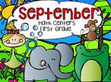 September Math Centers First Grade