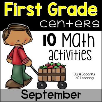 September Math Centers - First Grade