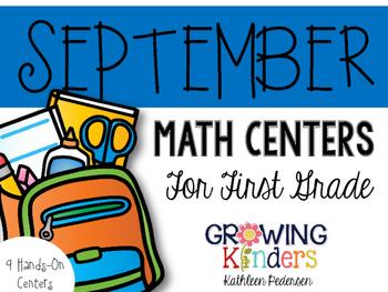 September Math Centers For First Grade