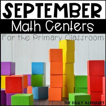 Kindergarten Math Centers for September