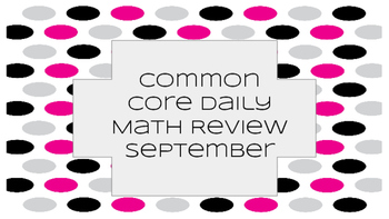 September Math Common Core Daily Review Freebie