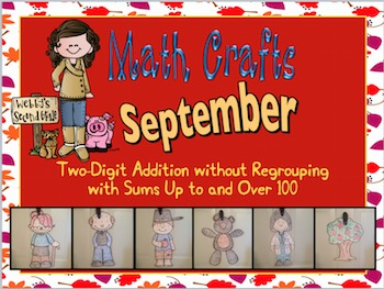 September Math Crafts 2-Digit Addition without Regrouping