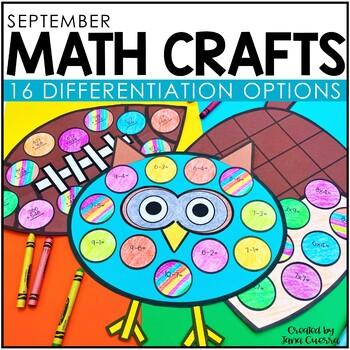September Math Crafts / Fall Math Craftivity