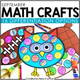 September Math Crafts (Differentiated)