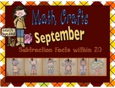 September Math Crafts Subtraction Facts within 20