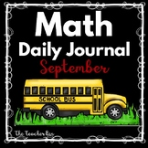 Kindergarten - Special Education-Math Daily Journal September