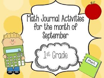 September Math Journal 1st Grade