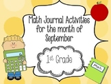 September Math Journal 1st Grade