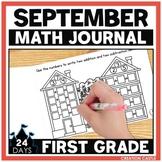 September First Grade Math Journal