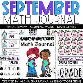 Math Journal September (2nd Grade)