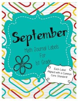 September Math Journal Labels ~ FREEBIE