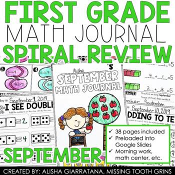 September Math Journal (1st Grade)