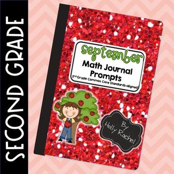 September Math Journal Prompts Second Grade