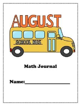 September Math Journal for K