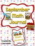 September Math Journal to fit CCSS Numbers and Algebric Thinking, and Base Ten