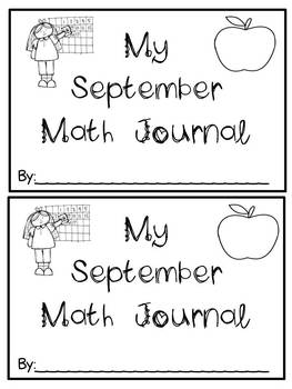 September Math Journals {First Grade}