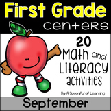 September Math & Literacy Centers - First Grade