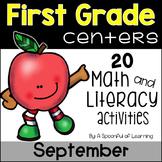 September Math & Literacy Centers - First Grade