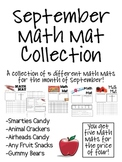 September Math Mat Collection:  ASSORTED FIVE PACK
