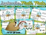 September Math Mats {first grade}